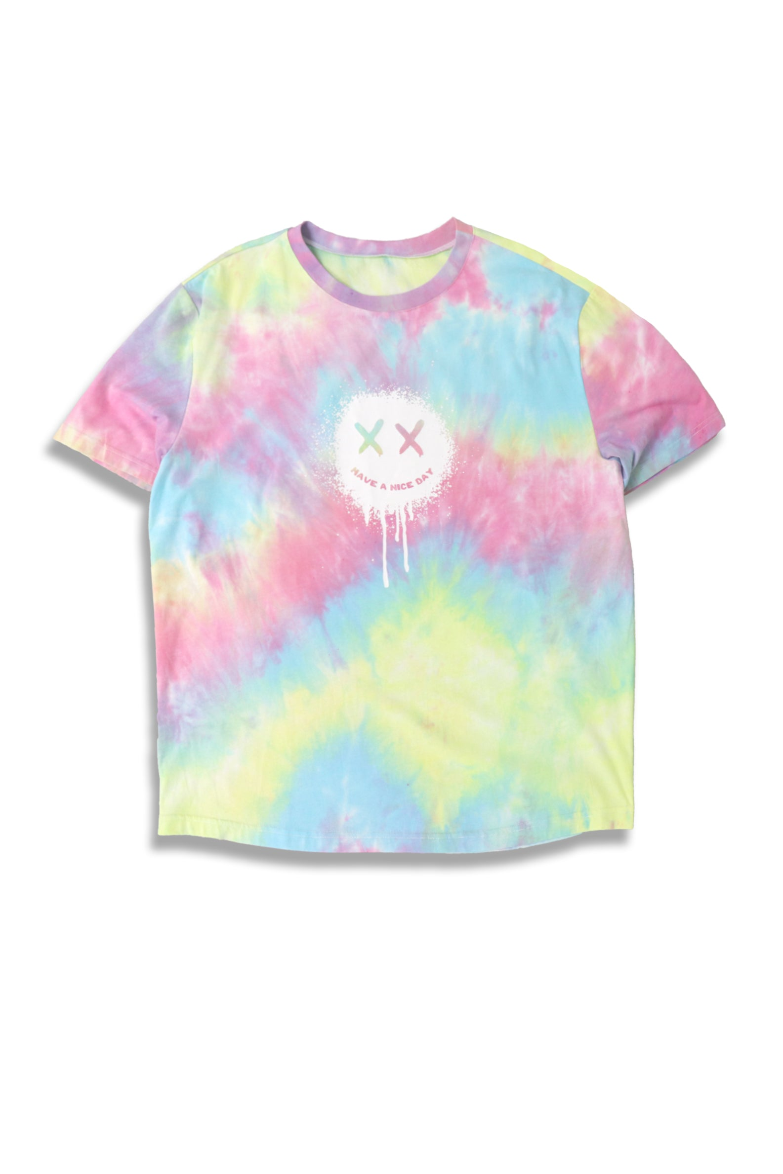 Carbali Tie-Dye T-Shirt with Crazy print