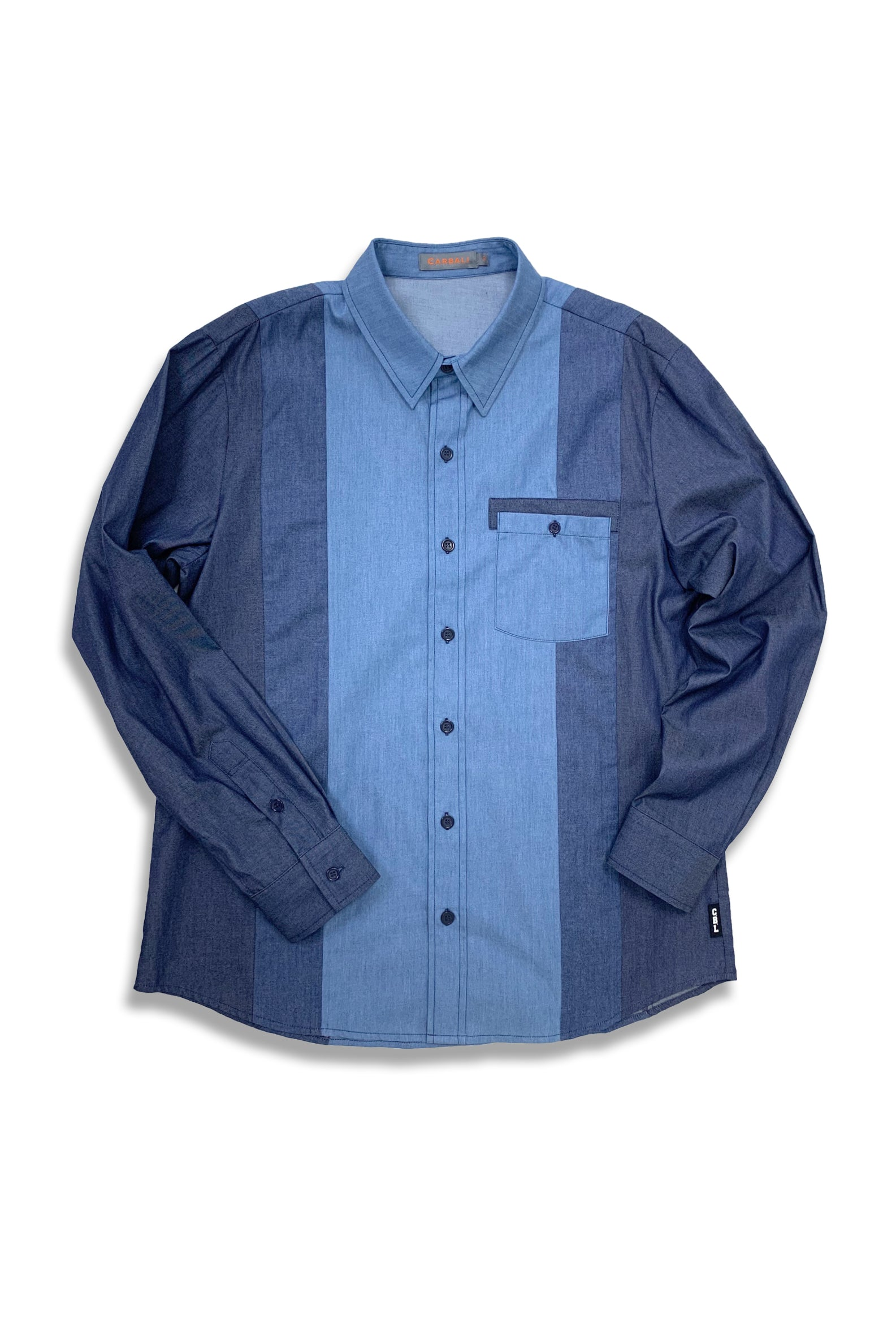 Carbali Demin Color Block Shirt
