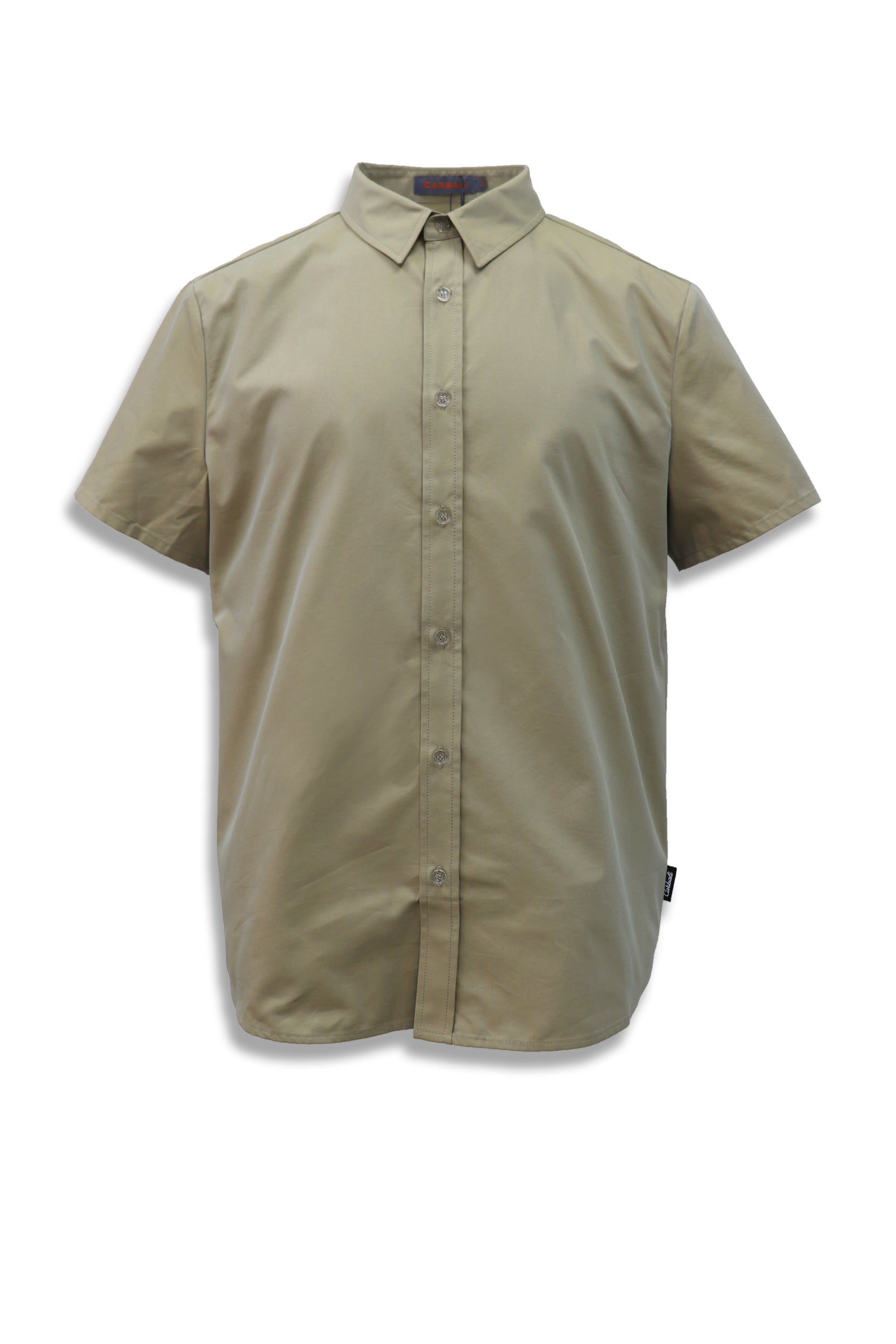 Carbali Short Sleeve Work Shirt in Khaki