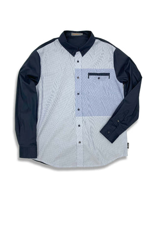 Carbali Classic Fit Shirt with Patchwork Detail in Como