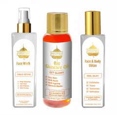 Pavitra+ Total Skincare Kit with Antimarks Oil Instant Glow Ubtan and Detox Face wash