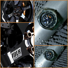 NEW!!!! STAINLESS STEEL TIRE RIM SPORTS WATCH - 3D HD QUALITY PRINTED DESIGN