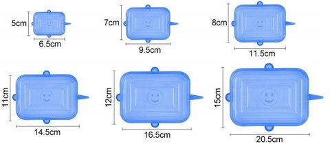 Couvercles en silicone rectangulaires tailles