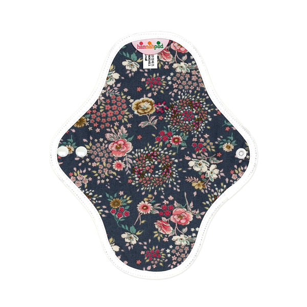 hannahpad Certified Organic Cloth Pad | Pantyliner 2pk | Antique Indigo