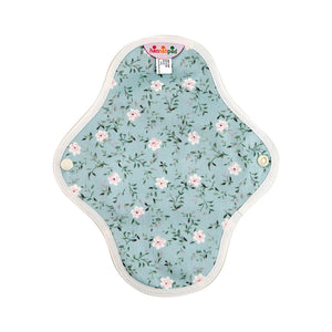 hannahpad Certified Organic Cloth Pad | Small 2pk | Edelweiss Blue