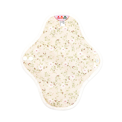 hannahpad Certified Organic Cloth Pad | Small 2pk | Edelweiss Ivory