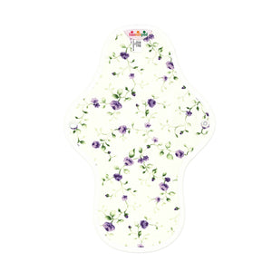 hannahpad Certified Organic Cloth Pad | Medium Single | Purple Rose