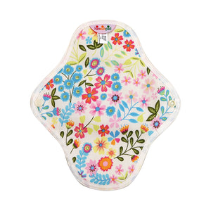 hannahpad Certified Organic Cloth Pad | Small 2pk | Flower Garden Blue