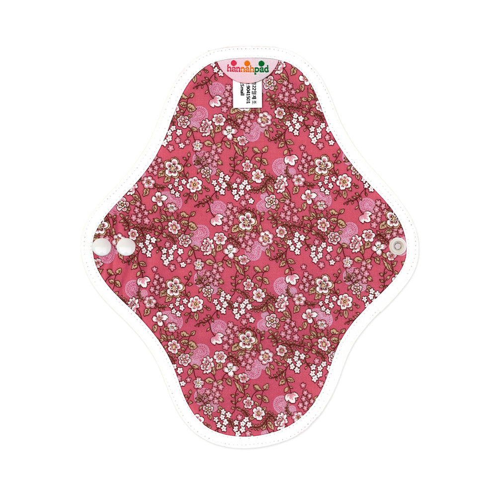 hannahpad Certified Organic Cloth Pad | Pantyliner 2pk | Cherry Blossom Pink