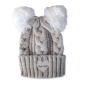 Hello Stranger Cable II Beanie Grey