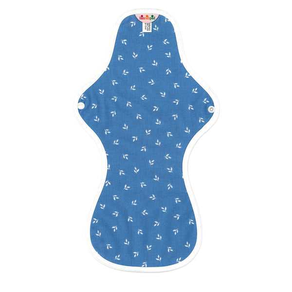 hannahpad Certified Organic Cloth Pad | Ultra Overnight Single | Sproutling Blue