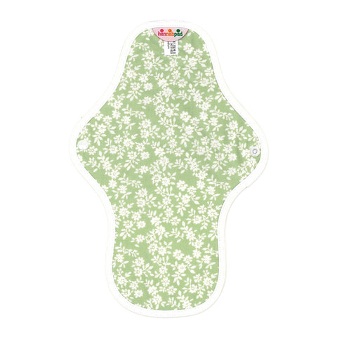 hannahpad Certified Organic Cloth Pad | Medium Single | Innocent Green