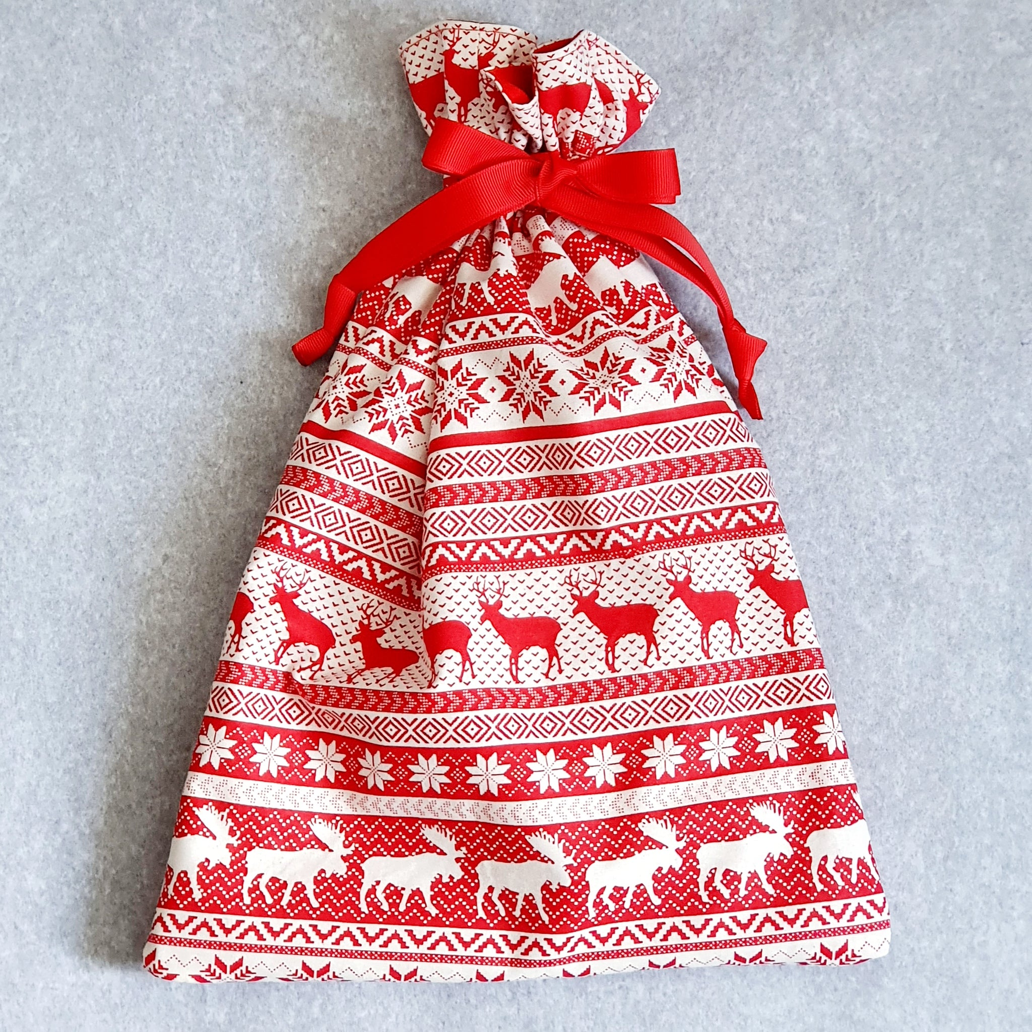 Drawstring Gift Bag Medium | Reindeer