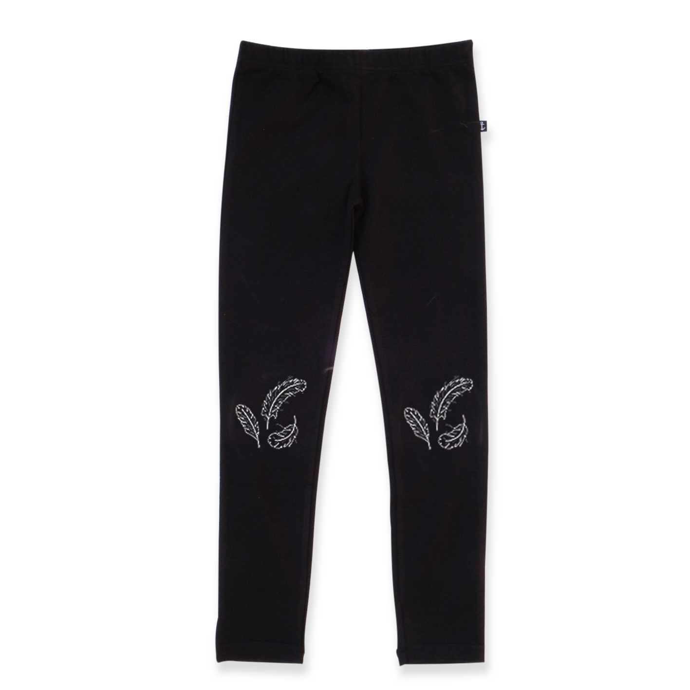 Hello Stranger Black Fleece Feather Leggings