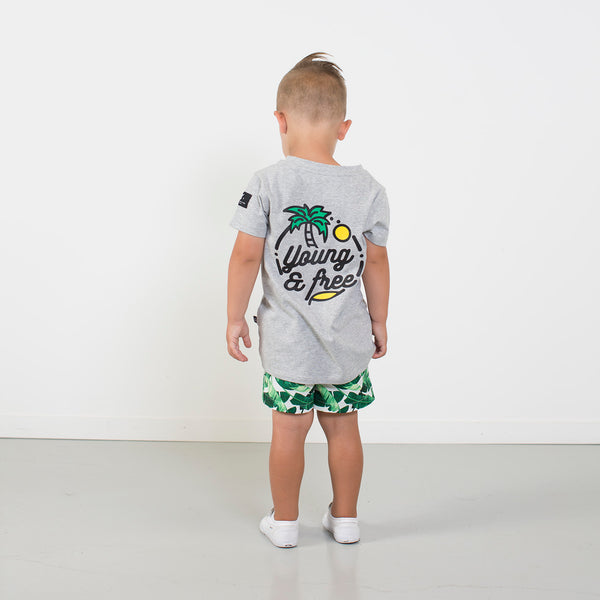 Young & Free Tee from hello stranger kidswear