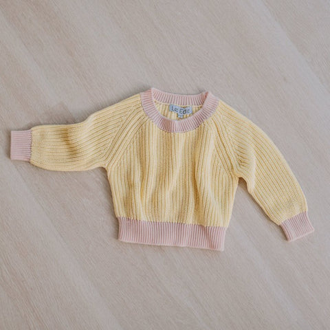 Le Edit Lemon Candy Contrast Knit Jumper