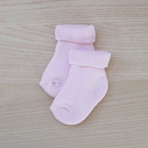 Le Edit Blush Baby Socks