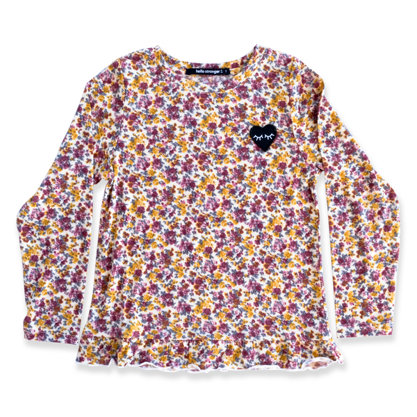 Hello Stranger Winter Floral LS Dolly Tee