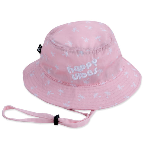 Happy Vibes Bucket Hat Pink