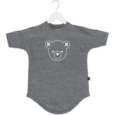 Huxbaby - Drop Back Dress - Hux Bear Outline