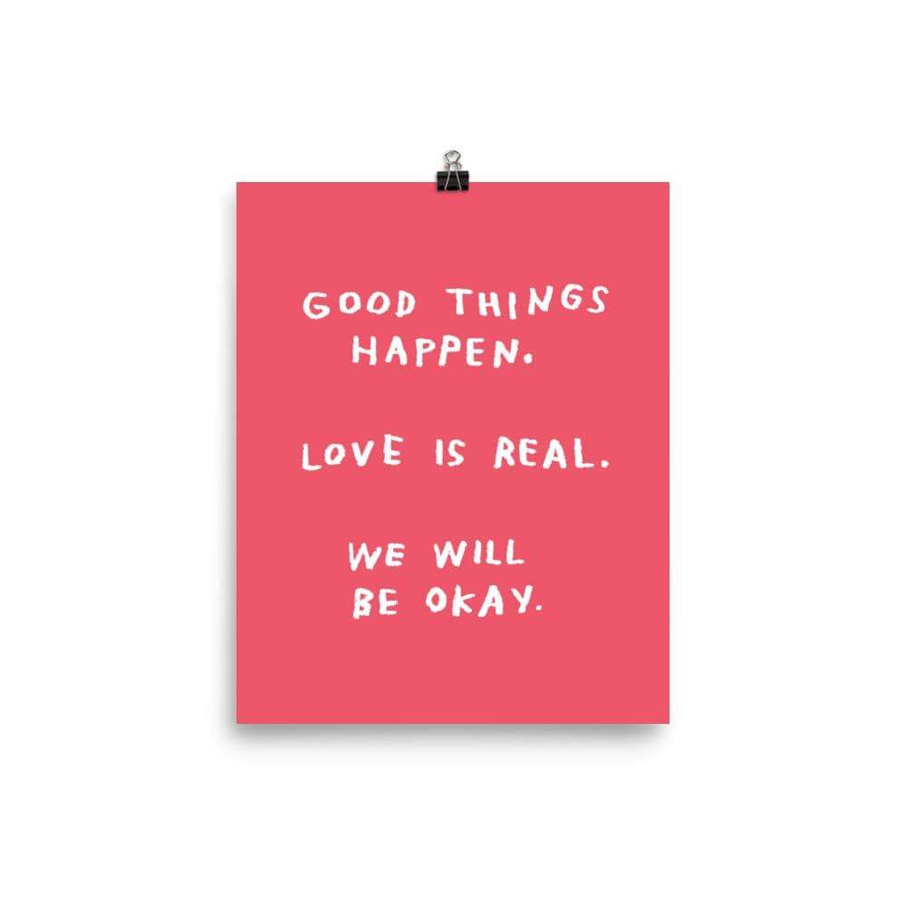 Adam J. Kurts Good Things Happen Print Red Small
