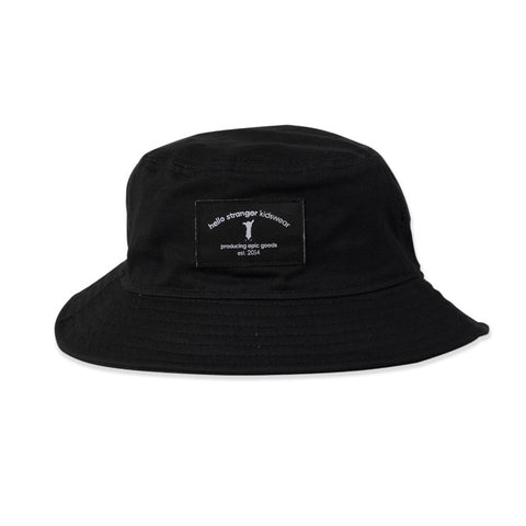 Bucket Hat Black from hello stranger kidswear