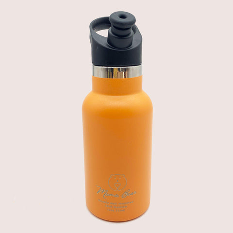 Mama Bear Stainless Steel Double Wall Insulated Bottle 12oz/355ml Apricot