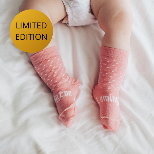 Merino Crew Socks 15th Anniversary Limited Edition Rasberry Baby