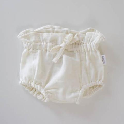 Le Edit Organic Cotton Chloe Bloomers Blanc