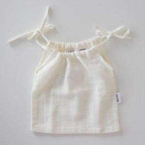 Le Edit Organic Cotton Marni Singlet Blanc