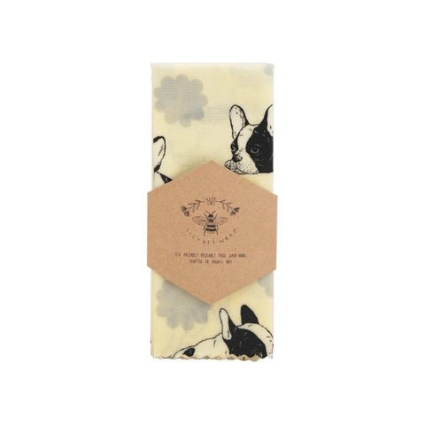 LilyBee Wrap Reusable Beeswax Wrap Single M - Bulldogs