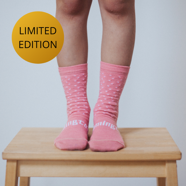 Merino Crew Socks 15th Anniversary Limited Edition Rasberry Child