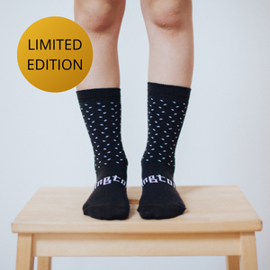 Lamington Merino Crew Socks 15th Anniversary Limited Edition Chocolate Child