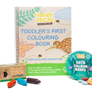 Honeysticks From Land To Sea Colouring Set
