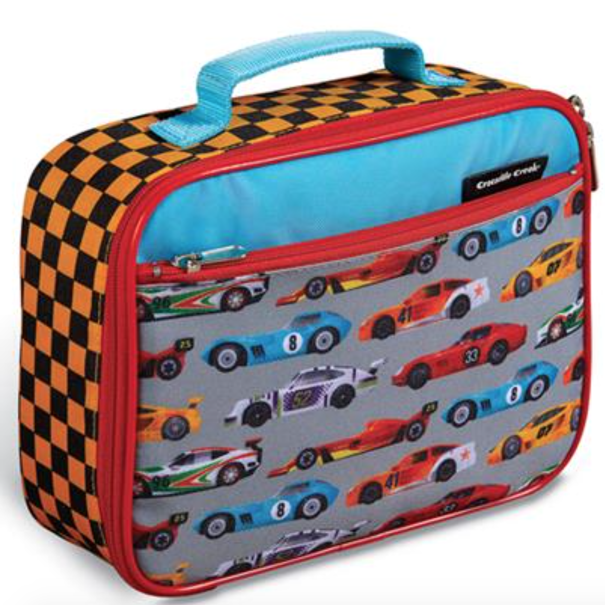 Croc Creek Classic Lunchbox Race Car Make school lunches more fun with a Crocodile Creek Race Car Lunchbox. This high-quality lunch box is sturdy and durable with extra lining to keep food fresh and padding and structure to prevent crushing. There is plenty of storage space to fit a variety of back to school accessories and a sturdy nylon handle for easy portability. Easy to use zippers for little hands to open and close. Simply wipe the lunch box with a damp cloth after each use for easy cleaning.