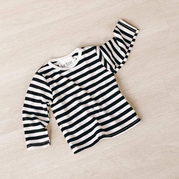 French Stripe Long Sleeve Tee from Le Edit
