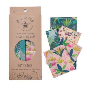LilyBee Beeswax Food Wrap Family Pack - Flamingo