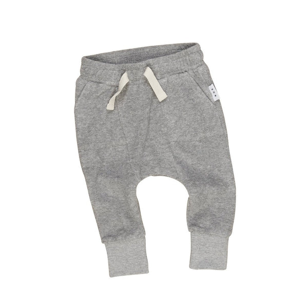 Huxbaby Grey Pocket Drop Crotch Pant GreyMarle