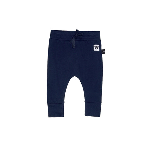 Huxbaby Organic Cotton Navy Drop Crotch Pant