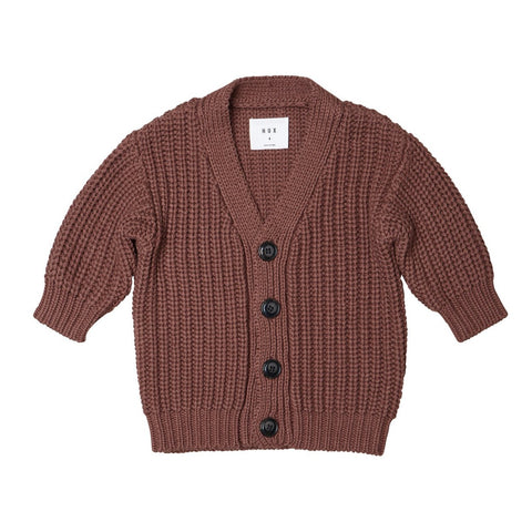 Nutmeg Chunky Button Cardi from Huxbaby.