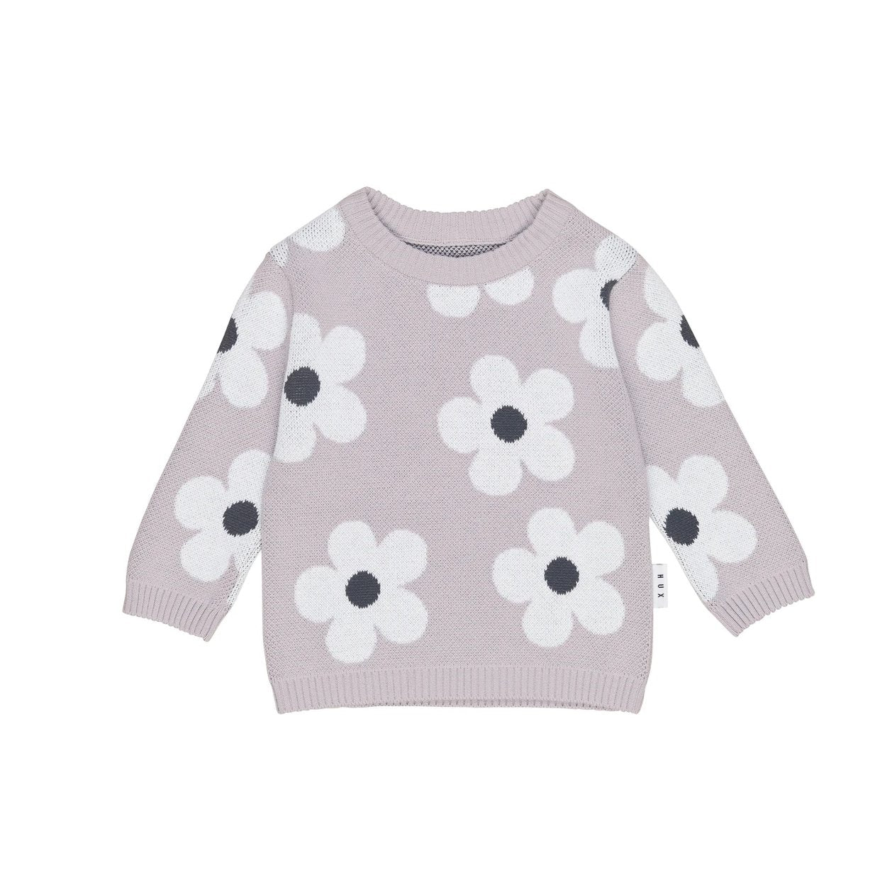 Huxbaby Organic Cotton Floral Knit Jumper - Front Flat