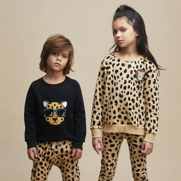 Organic Cotton Leopard Sweatshirt - Model Studio