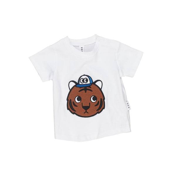 Organic Cotton Tiger T-Shirt White