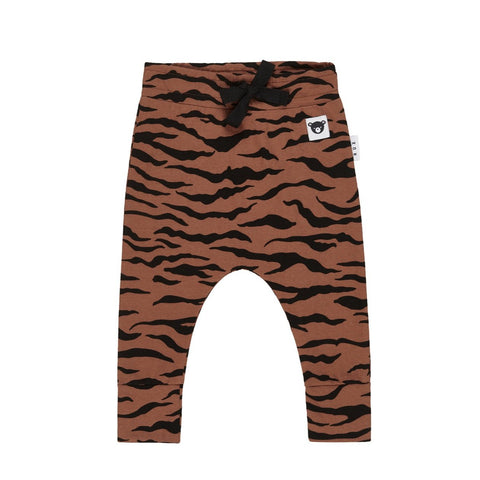 Organic Cotton Tiger Drop Crotch Pant from Huxbaby.
