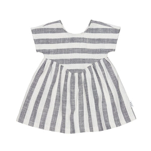 Huxbaby Stripe Yoke Dress - Front Flat