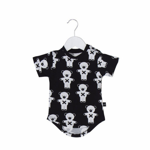 Huxbaby Soldier Bears Drop Back T-shirt Black