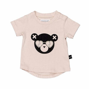 Huxbaby Organic Cotton Heart Shades T-shirt Petal
