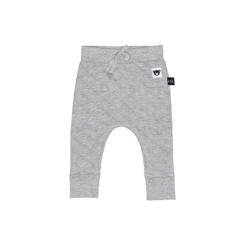 Huxbaby Stitch Drop Crotch Pant Grey Marle
