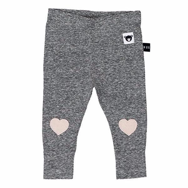 Huxbaby Heart Patch Skinny Legging Charcoal