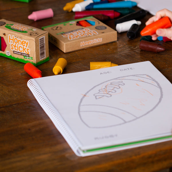 Honeysticks Toddlers First Colouring Book - A Kiwi Adventure